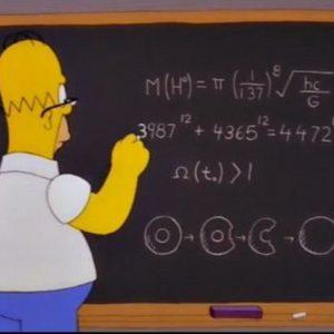 homer simpson at blackboard